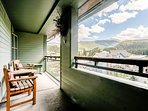Relax on the oversize private balcony with Continental Divide views