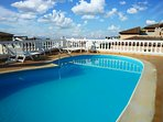 Share rooftop Pool area with wonderful views over the Mediterranean Sea.