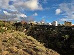 Seitlicher Blick nach Tijoco Bajo von der Terrasse aus