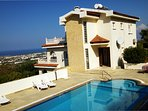 Trepen villa, very private pool and views to coast