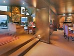 Open plan dining and lounge areas