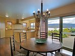 Open plan kitchen and casual dining room