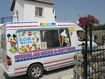 Daily visit by one of the Ice Cream vans.
