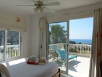 Enjoy bay views from the bed in the master bedroom with private terrace