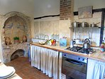 The Tuscan kitchen with original features