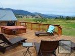 Enjoy the hot tub under the Montana sky!