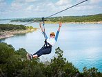 A Big Attraction in Austin is Lake Travis Zip Lining - Seven Miles From the House