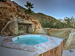 Sink into the private hot tub under starry skies.