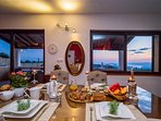 Amazing panoramic views on town Split and sea from the living area