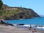 Playa y parque natural a unos siete minutos de la casa