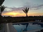 Amazing sunset from the pool area!