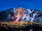 A number of our properties have views of the fireworks over Aspen Mountain.  Photo courtesy Aspen Chamber Resort...