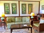 Queen size sofa/sleeper, TV, ceiling fan and ocean views!