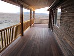 The covered deck can be enjoyed rain or shine