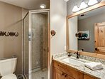 3/4 bath attached to Queen bedroom