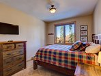 Queen bedroom with attached 3/4 bath