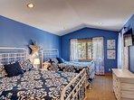 Upper level double Queen bedroom