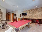 Pool table room on lower level