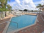 SECURED POOL AREA  OVERLOOKS THE FAMED INTRA COASTAL WATER WAY.AND CLEARWATER BEACH .