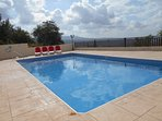 Relax by the large complex swimming pool