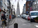 Hallgrimskirkja - landmark church 3min walk. Elevator to tower.