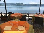 Lunch at the Lago Di Vico high above in the centre of the Cimini mountains - 30 mins away.