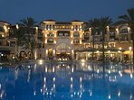 The lovely 5 star Intercontinental hotel - perfect for a drink or dinner overlooking the pool.