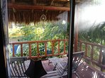 Back bedroom palapa deck