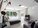 Master bedroom with stunning view