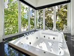 Jacuzzi in master bathroom
