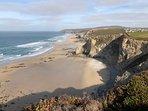 Porthtowan beach and cliff top walks (October)