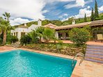 Lots of space and private pool in the foot hills of los Reales.