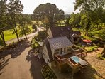 Vineyard Estate On Two Forested Acres With Gardens, Paths, Waterfall, Rope Swing