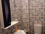 Bathroom by living room