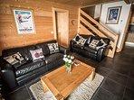 Living area with comfy sofas