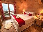 Master ensuite bedroom with super king size bed