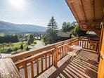 Balcony with stunning mountain views