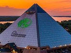 Bike or take the trolley to Bass Pro Shop