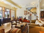 The brightly-lit Living Area at this Vacation Home in Kasauli