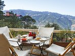 Have a cup of Darjeeling tea while enjoying the mountain breeze out on the deck