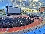 The complex amphitheater is perfect for late night movies and shows under the night sky