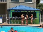 Poolside bar is located at east side pool. Order food from on-site restaurant here also.