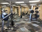 Free weights and weight machines.