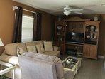 Unwind in the cozy fmaily room, complete with recliner and flat screen TV