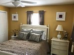 The king size bed in the master bedroom is the perfect place to reenergize after a long day