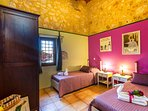The Villa is tastefully decorated in a rustic style.