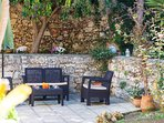 Deck chairs in the garden, the perfect spot for relaxation!