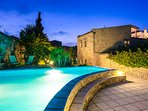 The estate occupies 2500 m2, including a two storey neoclassical house of 170 m2