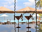 Our exclusive Chi Beach Bar & Restaurant - free shuttle bus from your villa!