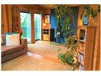 Log burner/lounge area